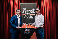 Team managers Michael Zijlaard & Nick Nuyens presenting their new (fusion) team and the new shirt<br /> <br /> Roompot–Charles Cycling Team<br /> <br /> Team presentation <br /> The Netherlands / nov 2018