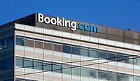Nederland  Amsterdam-  2020. Booking.com.  Foto : ANP/ HH / Berlinda van Dam
