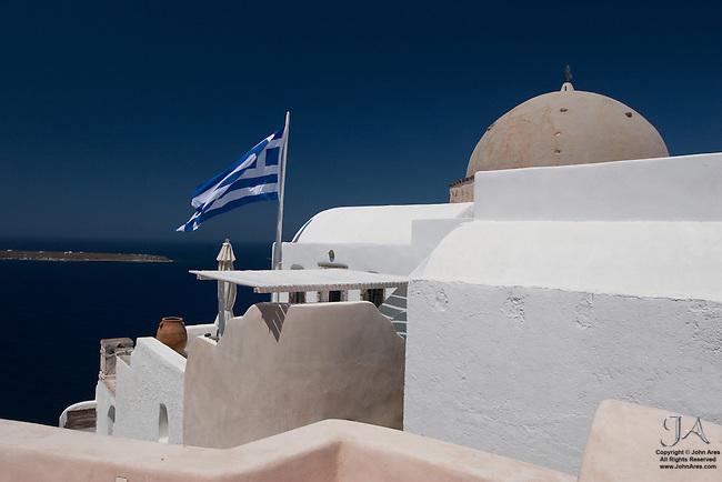 Inviting table hear a Greek Church