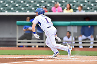 Tennessee Smokies designated hitter Ian Happ (1) swings at a pitch during a game against the Jackson Generals at Smokies Stadium on July 5, 2016 in Kodak, Tennessee. The Generals defeated the Smokies 6-4. (Tony Farlow/Four Seam Images)
