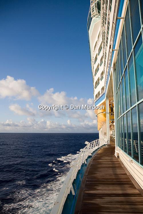 "Walking the decks of the Royal Caribbean cruise ship ""Explorer of the Seas""."