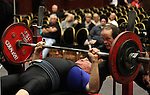 Charlie Rice, 84, competes Tuesday, Nov. 1, 2011, in the men's masters 75+ division of the bench press competition at the World Bench Press and Dead Lift Championships in Reno, Nev..Photo by Cathleen Allison