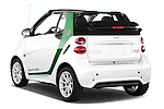 Car pictures of rear three quarter view of a 2013 Smart FOR TWO Electric Drive 2 Door Convertible Angular Rear