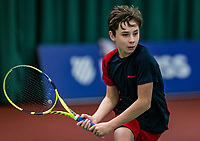 Wateringen, The Netherlands, December 1,  2019, De Rhijenhof , NOJK 12 and16 years, Final boys 12 years: Mees Röttgering (NED) <br /> Photo: www.tennisimages.com/Henk Koster