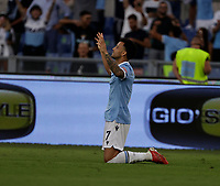 28th August 2021; Olympic Stadium, Rome, Italy; Serie A football, SS Lazio versus AC Spezia : Felipe  Anderson of Lazio  celebrates after scoring for 4 - 1 in 48th minute