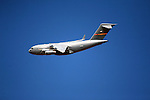The C-17 Globemaster III is the newest,most flexible cargo aircraft to enter the airlift force. It is capable of rapid strategic delivery of troops and all types of cargo to main operating bases or directly to forward bases in the deployment area.<br /> (3)