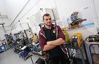Pictured: Heating and airconditioning engineers course. Friday 26 September 2014<br /> Re: Cardiff and Vale College, Cardiff, south Wales.