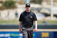 Third base umpire Ryan Wills during the game between the Rochester Red Wings and the Scranton/Wilkes-Barre RailRiders at PNC Field on July 25, 2021 in Moosic, Pennsylvania. (Brian Westerholt/Four Seam Images)