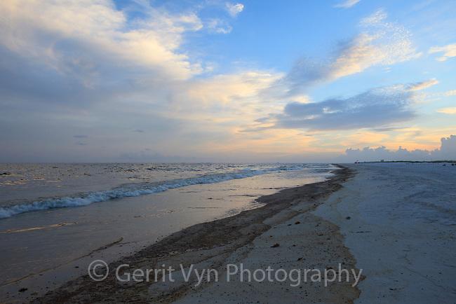 Oiled beach from the BP Deepwater Horizon oil leak. Baldwin County, Alabama. June 2010.