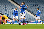 Livingston v St Johnstone …28.02.21   Hampden   BetFred Cup Final<br /> Callum Booth and David Wotherspoon celebrate at full time as St Johnstone win the BETFRED Cup<br /> Picture by Graeme Hart.<br /> Copyright Perthshire Picture Agency<br /> Tel: 01738 623350  Mobile: 07990 594431