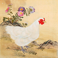 BNPS.co.uk 01202 558833)<br /> Pic: ChiswickAuctions/BNPS<br /> <br /> Six lost paintings of chickens that belonged to China's longest reigning emperor have sold for a whopping £250,000.<br /> <br /> The exquisite paintings of poultry originally resided in the Imperial collection of the Kangxi Emperor who ruled from 1661 to 1722 in the Qing dynasty.<br /> <br /> He commissioned a court artist to make the 16ins by 16ins paintings of chickens which is considered a symbol of fidelity and punctuality in Chinese culture.