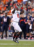 Oct. 22, 2011 - Charlottesville, Virginia - USA; North Carolina State wide receiver T.J. Graham (6) makes a catch during an NCAA football game against the Virginia Cavaliers at the Scott Stadium. NC State defeated Virginia 28-14. (Credit Image: © Andrew Shurtleff