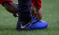 Nike football boots pre match during the Premier League match between Chelsea and Crystal Palace at Stamford Bridge, London, England on 4 November 2018. Photo by Andy Rowland.<br /> .<br /> (Photograph May Only Be Used For Newspaper And/Or Magazine Editorial Purposes. www.football-dataco.com)