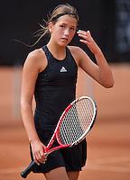 August 9, 2014, Netherlands, Rotterdam, TV Victoria, Tennis, National Junior Championships, NJK,  Kim Hansen (NED)<br /> Photo: Tennisimages/Henk Koster