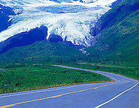 Road and wirthington Glacier. Alaska