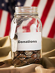 Jar with donations
