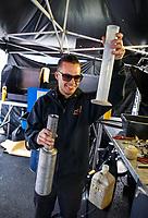 Jul 30, 2017; Sonoma, CA, USA; NHRA funny car driver Jonnie Lindberg during the Sonoma Nationals at Sonoma Raceway. Mandatory Credit: Mark J. Rebilas-USA TODAY Sports
