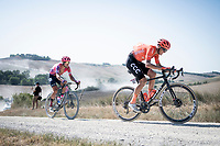 Alessandro De Marchi (ITA/CCC)<br /> <br /> 14th Strade Bianche 2020<br /> Siena > Siena: 184km (ITALY)<br /> <br /> delayed 2020 (summer!) edition because of the Covid19 pandemic > 1st post-Covid19 World Tour race after all races worldwide were cancelled in march 2020 by the UCI