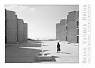 KATHLEEN AT THE SALK INSTITUTE COURTYARD, Built 1965, La Jolla, California, Louis Kahn, Architect © Brian Vanden Brink, 2010