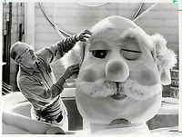 1980 FILE PHOTO - ARCHIVES -<br /> <br /> Alex Kozycz is an 18-year veteran of Eaton's Santa Claus parade. A former cabinet-maker in Poland; he works year-round perfecting the floats and making sure not a hair's missing from such things as the huge face that will adorn the A Dream Comes True float.<br /> Bezant, Graham<br /> Picture, 1980<br /> <br /> 1980<br /> <br /> PHOTO : Graham Bezant - Toronto Star Archives - AQP
