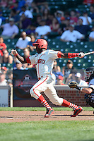 Outfielder Alexander Paredes (8) of La Romana, Dominican Republic during the Under Armour All-American Game on August 24, 2013 at Wrigley Field in Chicago, Illinois.  (Mike Janes/Four Seam Images)