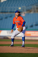 Syracuse Mets pitcher Zach Lee (32) during an International League game against the Charlotte Knights on June 11, 2019 at NBT Bank Stadium in Syracuse, New York.  Syracuse defeated Charlotte 15-8.  (Mike Janes/Four Seam Images)