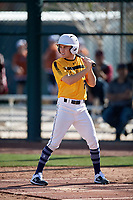 Lucas Mirizzi during the Under Armour All-America Pre-Season Tournament, powered by Baseball Factory, on January 19, 2019 at Sloan Park in Mesa, Arizona.  Lucas Mirizzi is an outfielder from San Jose, California who attends Leland High School.  (Mike Janes/Four Seam Images)