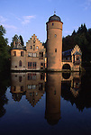 Europe, DEU, Germany, Bavaria, Spessart, Mespelbrunn, Moated castle, Mespelbrunn Castle, ....[ For each utilisation of my images my General Terms and Conditions are mandatory. Usage only against use message and proof. Download of my General Terms and Conditions under http://www.image-box.com or ask for sending. A clearance before usage is necessary...Material is subject to royalties. Each utilisation of my images is subject to a fee in accordance to the present valid MFM-List...Contact | archive@image-box.com | www.image-box.com ]