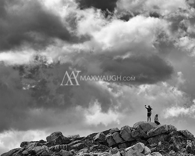 Tourists take in the views atop the Beartooth Pass.