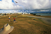 Puerto Rico, San Juan, Kite flying in front of El Morro
