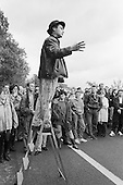 Martin Besserman, entertainer.  Speakers' Corner, Hyde Park, London, 1993.