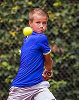 Hilversum, Netherlands, August 9, 2017, National Junior Championships, NJK, Nick van den Heuvel<br /> Photo: Tennisimages/Henk Koster