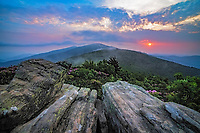 Evening vista from Jane Bald, Appalachian Trail