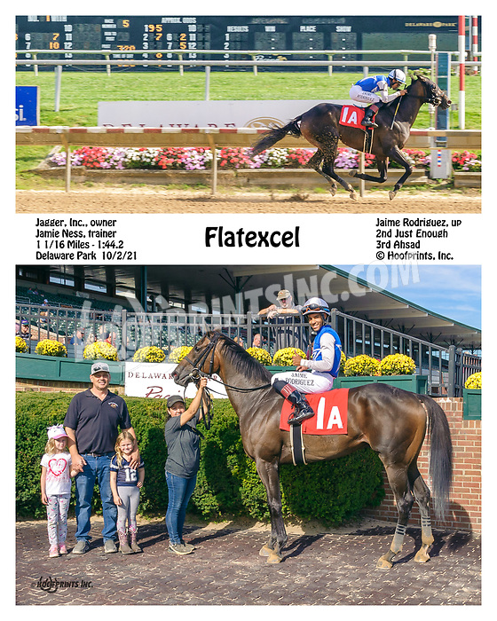 Flaxtexcel winning at Delaware Park on 10/2/21