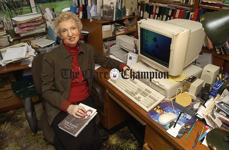 Meda Ryan at home in her study. Photograph by John Kelly.