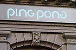 Exterior, Ping Pong Restaurant, London, city, England, UK, United Kingdom, Great Britain, Europe, European