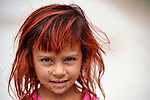A girl in a largely Roma, Turkish-speaking neighborhood of Dobrich, in the northeast of Bulgaria.