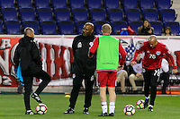 Harrison, NJ - Wednesday Feb. 22, 2017: Denis Hamlett prior to a Scotiabank CONCACAF Champions League quarterfinal match between the New York Red Bulls and the Vancouver Whitecaps FC at Red Bull Arena.