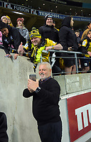 Chiefs coach Warren Gatland with fans after the Super Rugby Aotearoa match between the Hurricanes and Chiefs at Sky Stadium in Wellington, New Zealand on Saturday, 8 August 2020. Photo: Dave Lintott / lintottphoto.co.nz