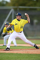 February 22, 2009:  Pitcher Eric Katzman (22) of the University of Michigan during the Big East-Big Ten Challenge at Naimoli Complex in St. Petersburg, FL.  Photo by:  Mike Janes/Four Seam Images