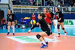 18.10.2020, Sporthalle Berg Fidel, Muenster<br /> Volleyball, Bundesliga Frauen, Normalrunde, USC Münster / Muenster vs. Rote Raben Vilsbiburg<br /> <br /> Annahme Danielle Brisebois (#4 Vilsbiburg)<br /> <br />   Foto © nordphoto / Kurth
