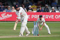 Simon Harmer in batting action for Essex during Essex CCC vs Gloucestershire CCC, LV Insurance County Championship Division 2 Cricket at The Cloudfm County Ground on 6th September 2021