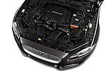 Car Stock 2016 Jaguar XJ Premium Luxury 4 Door Sedan Engine  high angle detail view
