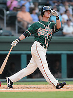 August 13, 2009: Infielder Thomas Hickman (41) of the Greensboro Grasshoppers, Class A affiliate of the Florida Marlins, in a game at Fluor Field at the West End in Greenville, S.C. Photo by: Tom Priddy/Four Seam Images