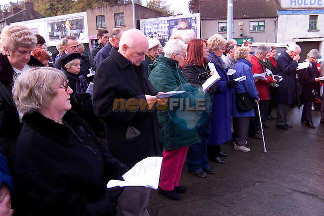 Part of the attendance at the Cenotaph Ceremony..Picture: Paul Mohan/Newsfile