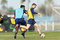 BRADENTON, FL - JANUARY 19: Djordje Mihailovic passes the ball during a training session at IMG Academy on January 19, 2021 in Bradenton, Florida.