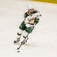 18 December 2016: University of Vermont Catamount Forward Kevin Irwin, a Junior from Akron, Ohio, in third period action against the Union College Dutchmen at Gutterson Fieldhouse in Burlington, Vermont. The Catamounts fell to their former ECAC hockey rivals 2-1, as the Dutchmen sweep the two-game weekend series. Mandatory Credit: Ed Wolfstein Photo *** RAW (NEF) Image File Available ***