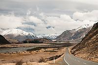Road towards Porters Pass near Cass, Canterbury, New Zealand