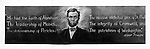 Chalk drawing of Abraham Lincoln drawn on blackboard by Ervin Hoff for Lincoln's birthday Feb. 1915 at Nyack Missionary Training Institute by Florence Rice.