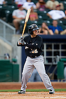 Daniel Robertson (32) of the San Antonio Missions at bat during a game against the Northwest Arkansas Naturals at Arvest Ballpark on June 30, 2011 in Springdale, Arkansas. (David Welker / Four Seam Images)